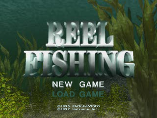 Reel Fishing PlayStation Main menu