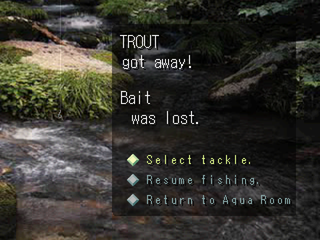 Reel Fishing PlayStation Bait lost