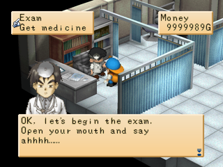 Harvest Moon: Back to Nature PlayStation Hospital