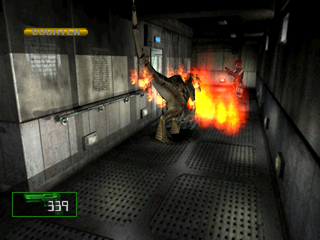 Dino Crisis 2 PlayStation This sub-weapon creates a firewall blocking incoming enemies.