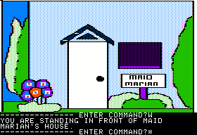 Hi-Res Adventure #5: Time Zone Apple II Maid Marian's home.