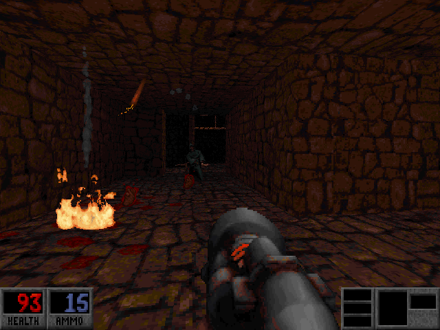 Blood: Plasma Pak DOS New green-robed cultists toss dynamite.
