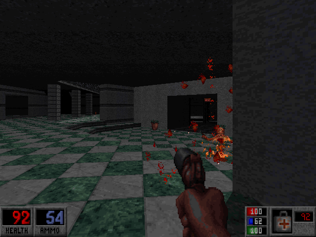 Blood: Plasma Pak DOS Level 2 - Fighting inside a shopping center.