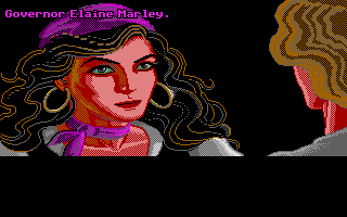 The Secret of Monkey Island Atari ST The beautiful governor and a reference to Indiana Jones and the Last Crusade.