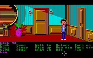 Maniac Mansion Atari ST More of the foyer.