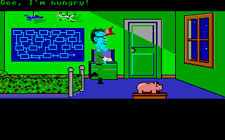 Maniac Mansion Atari ST Weird Ed in a cutscene.