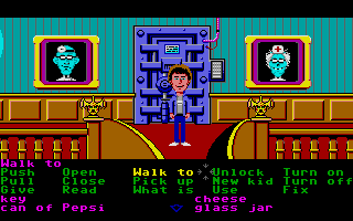 Maniac Mansion Atari ST Upstairs.