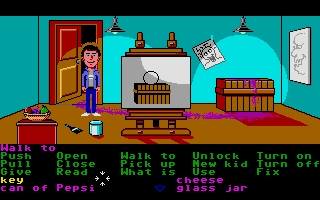 Maniac Mansion Atari ST Art room.