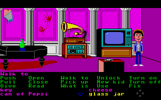 Maniac Mansion Atari ST Rec room.