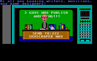 Maniac Mansion Atari ST Ad on TV.