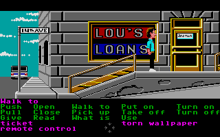 Zak McKracken and the Alien Mindbenders Atari ST Lou's Loans.