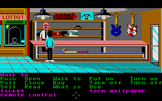 Zak McKracken and the Alien Mindbenders Atari ST Inside Lou's Loans.