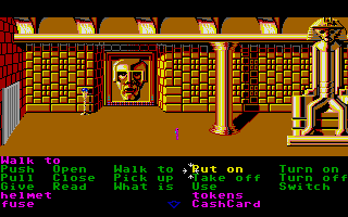 Zak McKracken and the Alien Mindbenders Atari ST The Great Chamber on Mars.