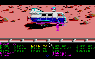 Zak McKracken and the Alien Mindbenders Atari ST Van made into a space ship - clever, huh?