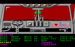 Zak McKracken and the Alien Mindbenders Atari ST Inside the spaceship van.