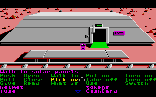 Zak McKracken and the Alien Mindbenders Atari ST Martian building.