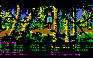 Zak McKracken and the Alien Mindbenders Atari ST Zak in the jungle.