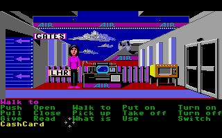 Zak McKracken and the Alien Mindbenders Atari ST A fancy airport.