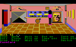 Zak McKracken and the Alien Mindbenders Atari ST A secret map room.