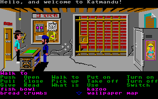 Zak McKracken and the Alien Mindbenders Atari ST Nepal police station.