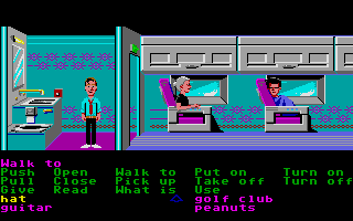 Zak McKracken and the Alien Mindbenders Atari ST Airplane bathroom.