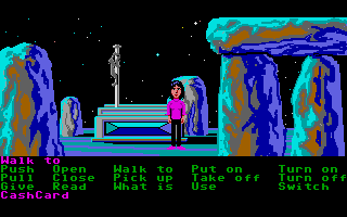 Zak McKracken and the Alien Mindbenders Atari ST Stone hedge up close and personal.