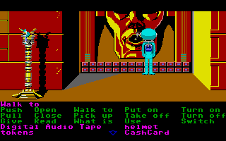 Zak McKracken and the Alien Mindbenders Atari ST A giant stone face.