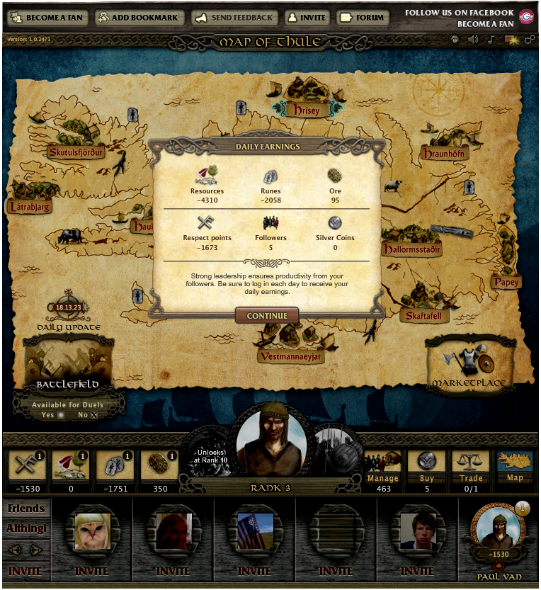 Vikings of Thule Browser Returning to the game