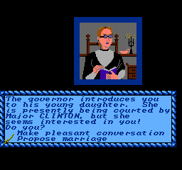 Sid Meier's Pirates! NES Governor's Daughter: Ugly - don't get stuck with her if you have the choice.