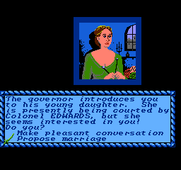 Sid Meier's Pirates! NES Governor's Daughter: Plain