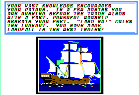 Sid Meier's Pirates! Apple II Start of your adventure.