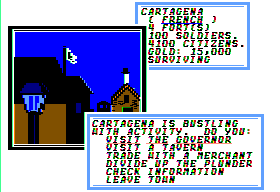 Sid Meier's Pirates! Apple II In a town.