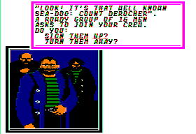 Sid Meier's Pirates! Apple II As you become more famous, it will be easier to recruit men.