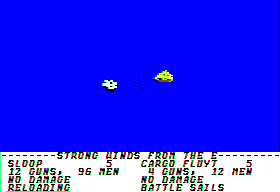 Sid Meier's Pirates! Apple II Sea battle.
