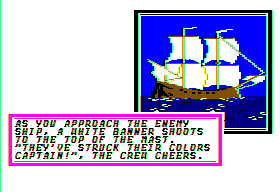 Sid Meier's Pirates! Apple II The enemy ship surrenders!