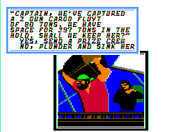 Sid Meier's Pirates! Apple II Looting the captured ship.