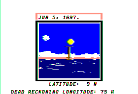 Sid Meier's Pirates! Apple II Taking a sun sight.