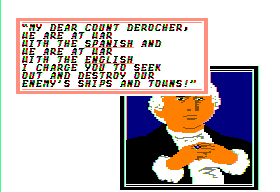 Sid Meier's Pirates! Apple II Talking with the governor.