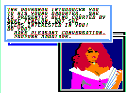 Sid Meier's Pirates! Apple II Hot governor's daughter. The one that you want to marry if you can.