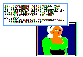 Sid Meier's Pirates! Apple II Another governor's daughter.