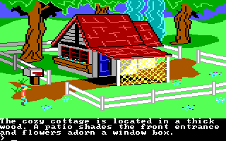 King's Quest II: Romancing the Throne PC Booter A nice little home. (PCjr)