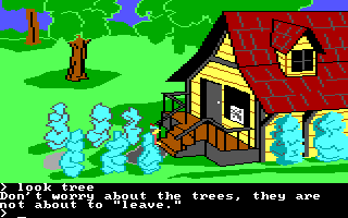 King's Quest II: Romancing the Throne PC Booter Antique shop and corny joke. (PCjr)