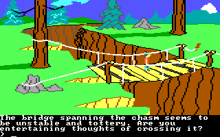 King's Quest II: Romancing the Throne PC Booter Bridge. (PCjr)