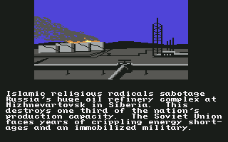 Red Storm Rising Commodore 64 The background story.