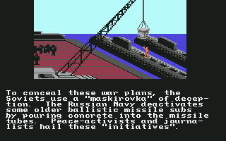 Red Storm Rising Commodore 64 The Soviets are up to no good.