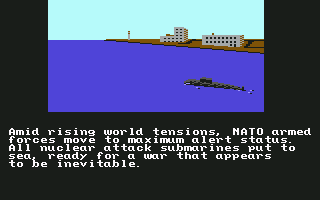 Red Storm Rising Commodore 64 NATO subs are prepared for battle.