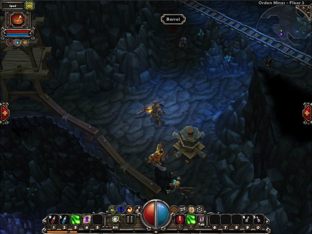 Torchlight Macintosh We have company: the story-related NPC fights on our side