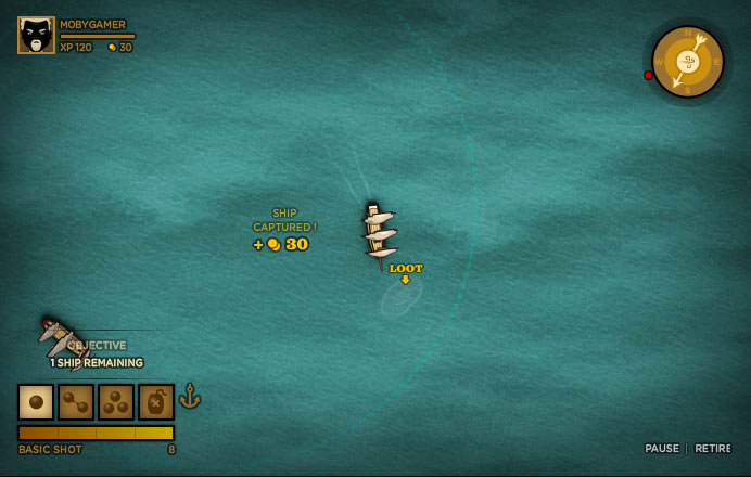 Trafalgar Origins Browser Grab the loot quickly when ships sink, or it disappears.