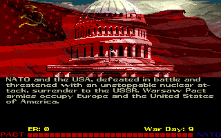 Red Storm Rising Amiga Russia has beat NATO and the war is over... and's it's all my fault!