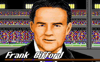 ABC Monday Night Football Amiga Frank Gifford reports.
